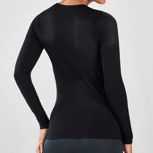 Musetta Seamless Black Long Sleeves Mesh Size: S